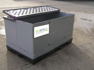 Or largest container is the pallet box Waste Lamp Storage Containers