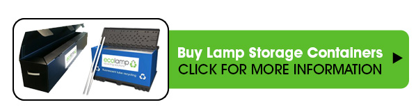 lamp storage solutions fluorescent lamp disposal collection recycling service uk, lamp storage coffins, ecolamp UK collect mainland United Kingdom